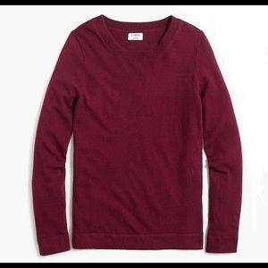 J Crew  Scoop Neck Cotton-Wool Teddie Sweater